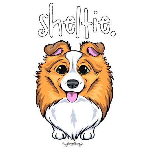 Sheltie Dog Cute 5 - Miesten premium t-paita