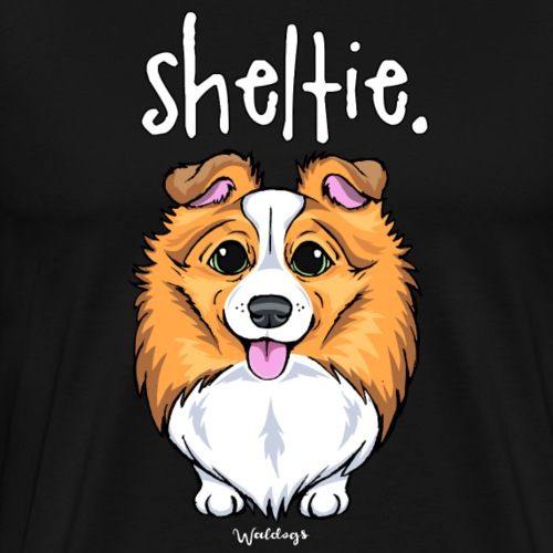 Sheltie Dog Cute 5 - Men's Premium T-Shirt