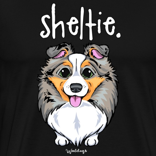 Sheltie Dog Cute 4 - Men's Premium T-Shirt