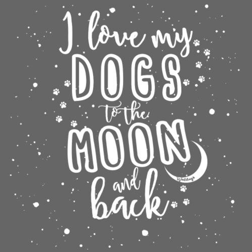 Dogs Moon - Miesten premium t-paita