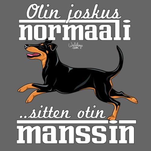 Manssi Normaali - Miesten premium t-paita
