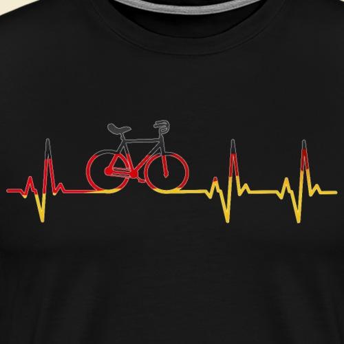 Kunstrad | Artistic Cycling Heart Monitor Germany - Männer Premium T-Shirt