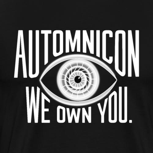 White Automnicon Logo - Men's Premium T-Shirt
