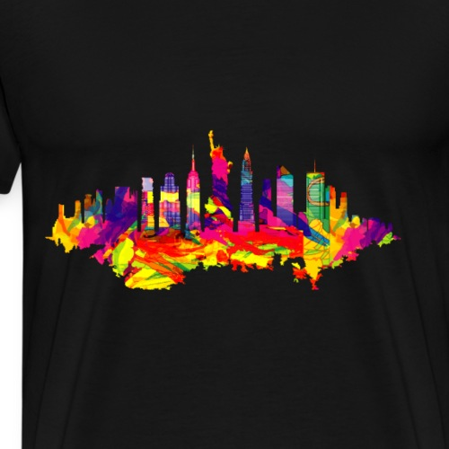 New York T Shirt Skyline - Männer Premium T-Shirt