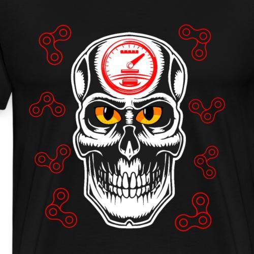 Cooler Motorrad - Totenkopf T Shirt Geschenk - Männer Premium T-Shirt
