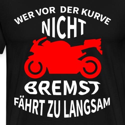 cooles motorrad biker t shirt geschenk - Männer Premium T-Shirt