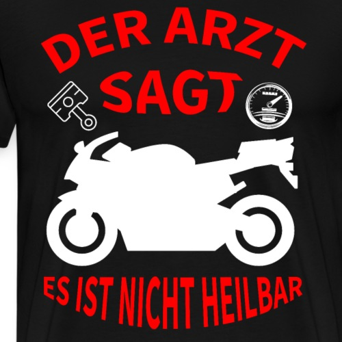 Motorrad -Biker T-Shirt - Männer Premium T-Shirt