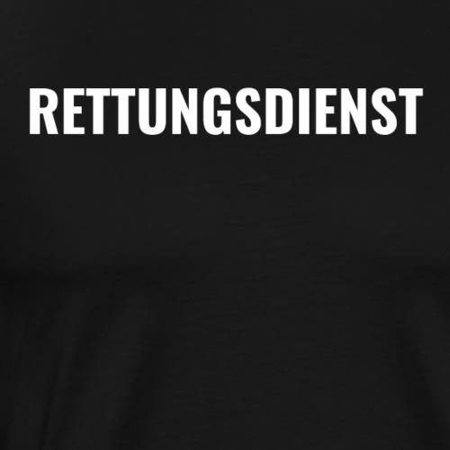Rettungsdienst #1 White - Männer Premium T-Shirt