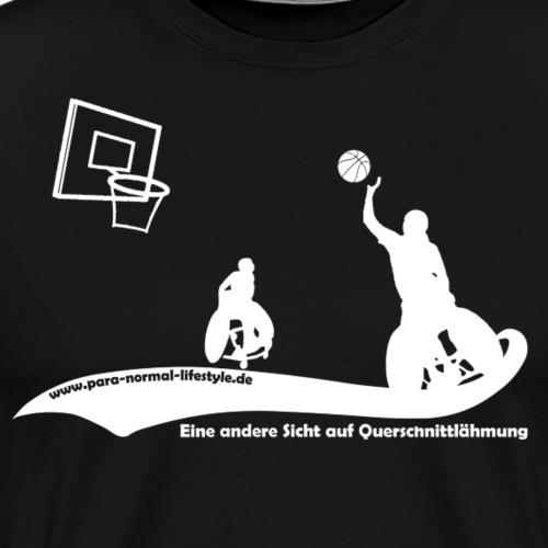 PNL Rollstuhlbasketball white - Männer Premium T-Shirt