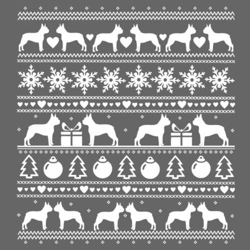 Boston Terrier Joulu - Miesten premium t-paita