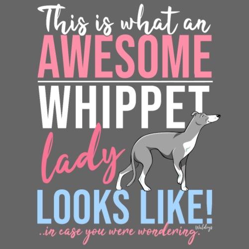 Awesome Whippet Lady VI - Miesten premium t-paita