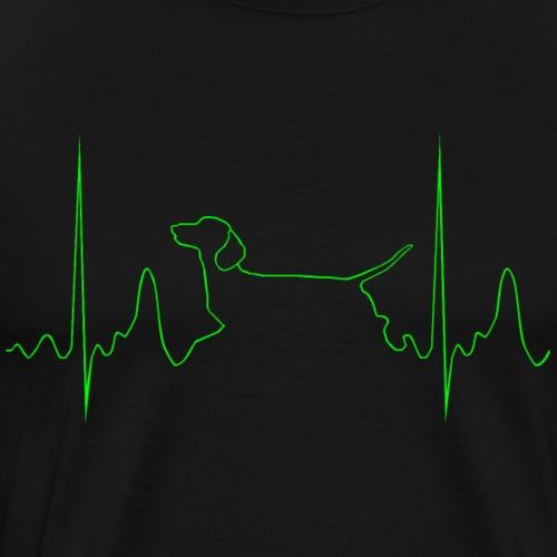 Kurzhaardackel Waldemar - Männer Premium T-Shirt