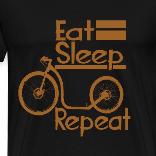 Eat Sleep Footbike repeat in Gold - Männer Premium T-Shirt