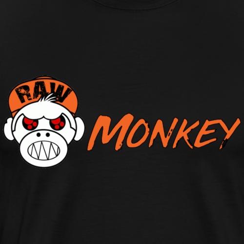 Raw Monkey Logo - T-shirt Premium Homme