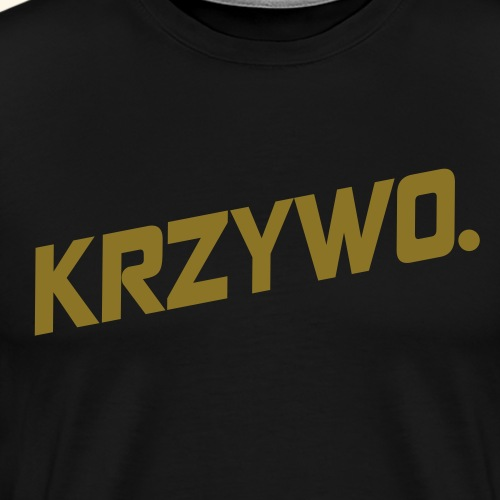 KRZYWO. - Koszulka męska Premium