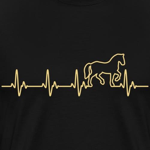 Horse Heartbeat - Männer Premium T-Shirt