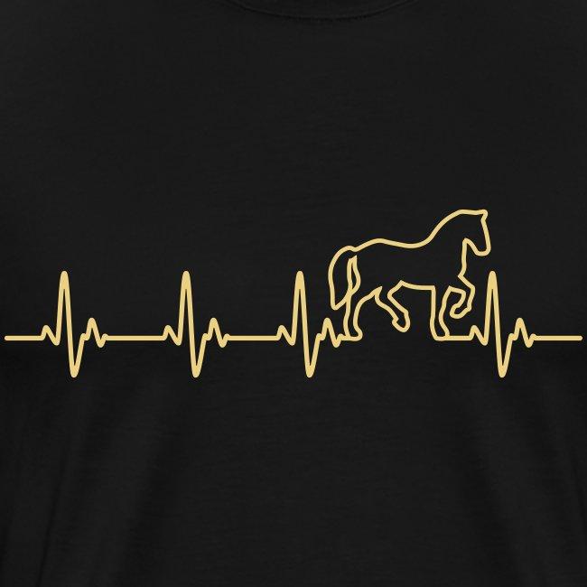 Vorschau: Horse Heartbeat - Männer Premium T-Shirt