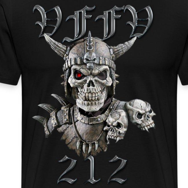 Viking skull rød stor png