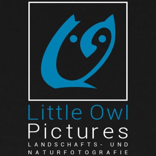 Little Owl Pictures Logo (weiß/blau)