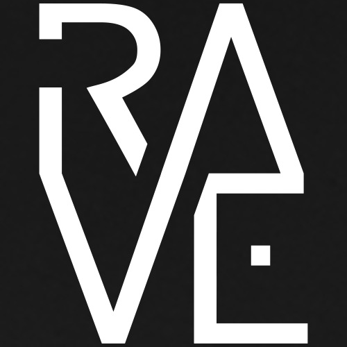Rave Minimal Text Electronic Music Techno Schrift - Männer Premium T-Shirt