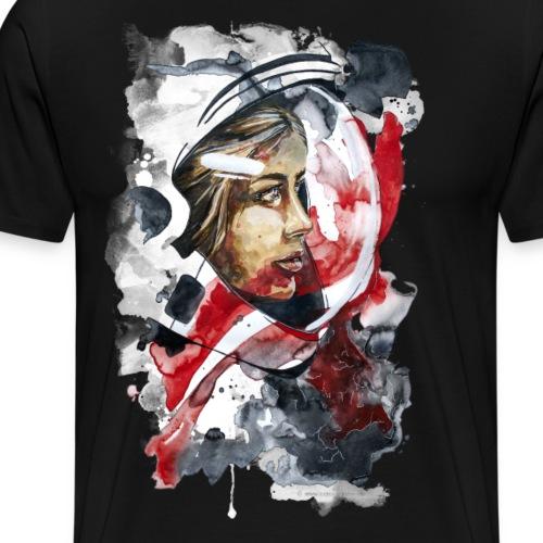 Kosmonaut Portrait Frau by carographic - Männer Premium T-Shirt