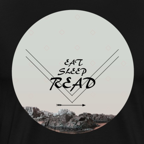 Eat, Sleep, Read - Premium-T-shirt herr