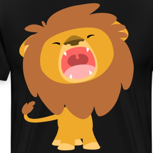 Little Lion, Big Roar by Cheerful Madness!! - Men's Premium T-Shirt