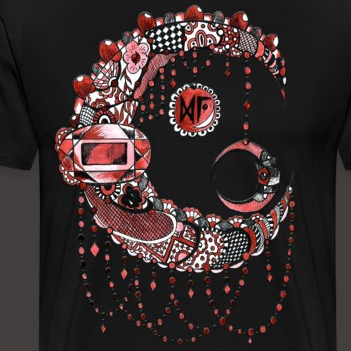 Lune dentelle Rouge - T-shirt Premium Homme
