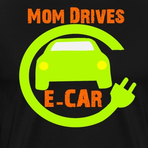 Mom drives E-Car / Ma fährt E-Auto.