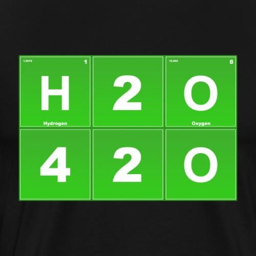 H2O - 420 Weed Lustig Kiffer Geschenk - Men's Premium T-Shirt
