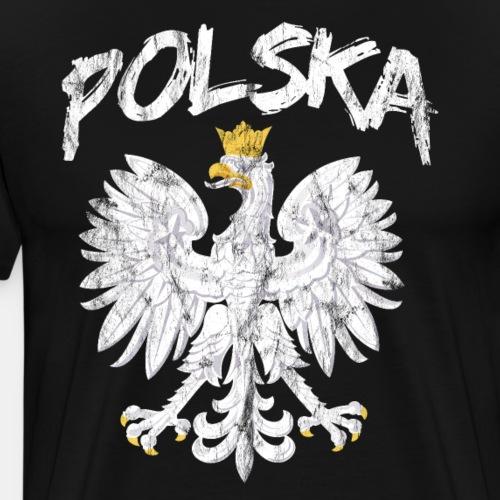 Polska Polska Polska Polski orzeł - Koszulka męska Premium