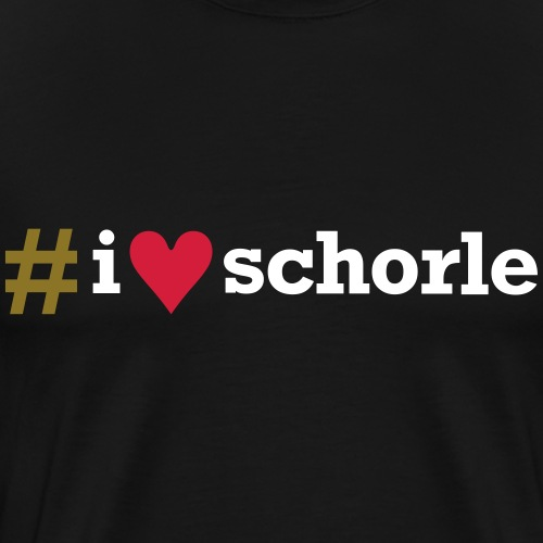 # I love Schorle - Männer Premium T-Shirt