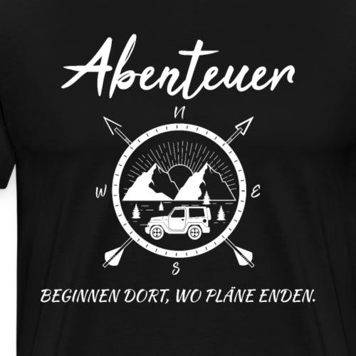 Abenteuer, Pläne - cooles Travel Reise Tshirt