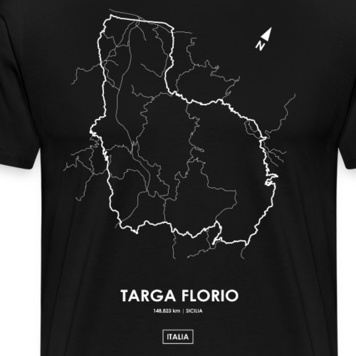 TARGA FLORIO Track Map - Men's Premium T-Shirt