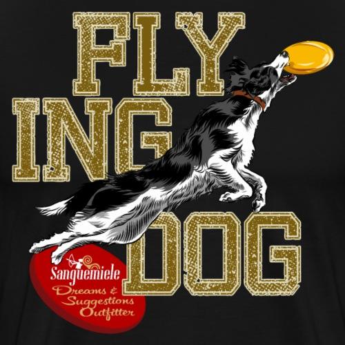 border collie disc dog - Maglietta Premium da uomo