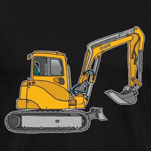 BAGGER, gelbe Baumaschine mit Schaufel und Ketten - Männer Premium T-Shirt