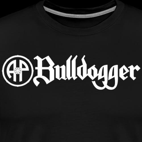 Bulldogger Logo gerade weiss - Männer Premium T-Shirt