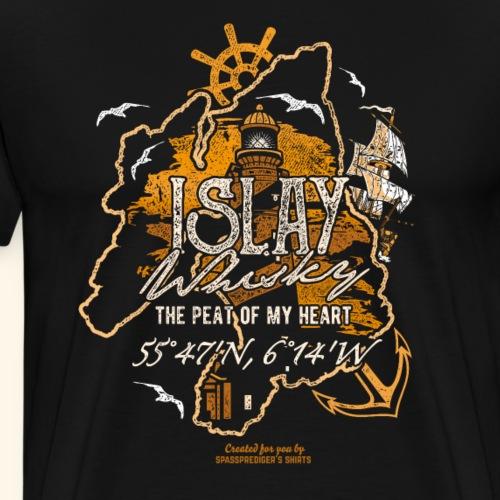 Islay Whisky T Shirt Peat of my Heart - Männer Premium T-Shirt