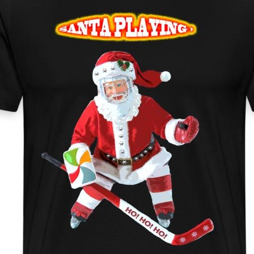 Santa le père noël joue au hockey - T-shirt Premium Homme