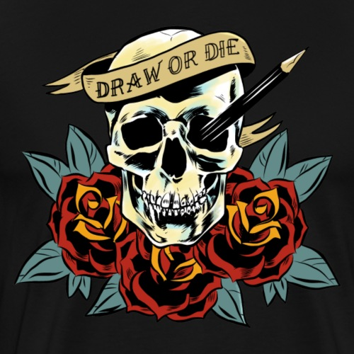 draw or die - T-shirt Premium Homme