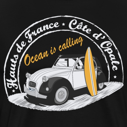 2CV - Ocean is calling II (L'océan m'appelle! ) - T-shirt Premium Homme