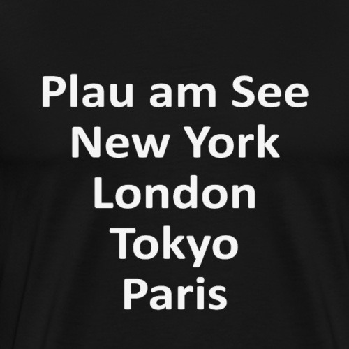 Plau am See - New York - Tokyo - Paris - London - - Männer Premium T-Shirt