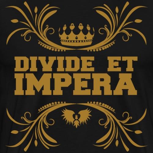 Divide et impera lateinisch teile und herrsche - Männer Premium T-Shirt