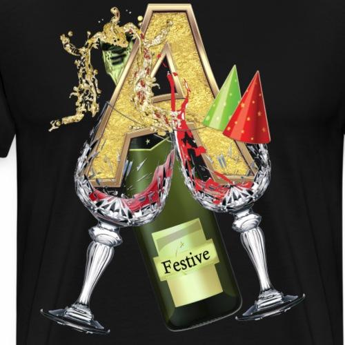 Festive wine party - Men's Premium T-Shirt