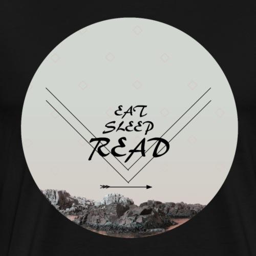 Eat, Sleep, Read - Premium-T-shirt herr