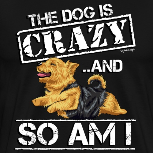 Norwich Terrier Crazy - Men's Premium T-Shirt