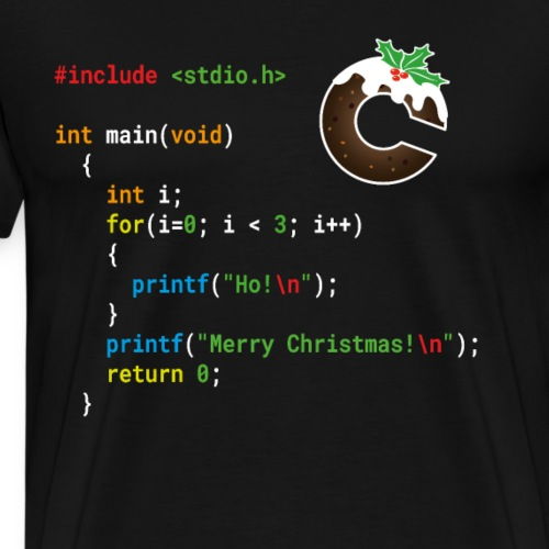 Ho! Ho! Ho! - Merry Christmas - C Geek Shirt - Men's Premium T-Shirt