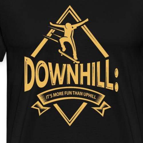 Skateboarding Winter Game - Men's Premium T-Shirt