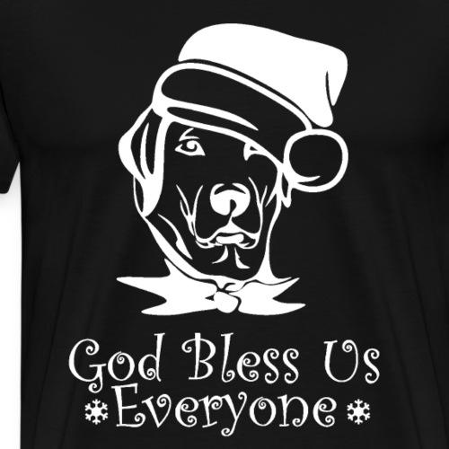 Hund Weihnachten - God bless everyone - Männer Premium T-Shirt