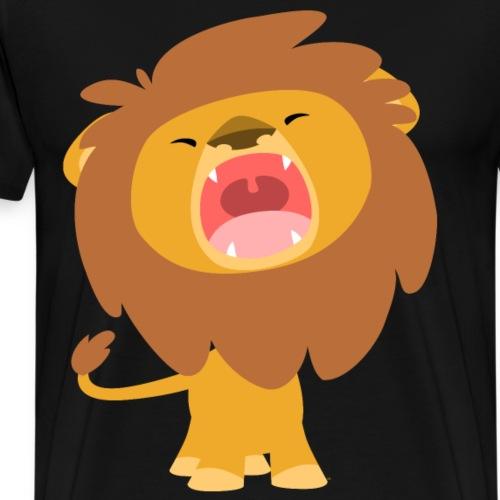 Little Lion, Big Roar by Cheerful Madness!! - Men's Premium T-Shirt